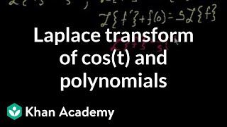 Laplace transform of cos t and polynomials | Laplace transform | Khan Academy