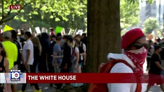 Protesters demand 'Justice for George Floyd' at White House