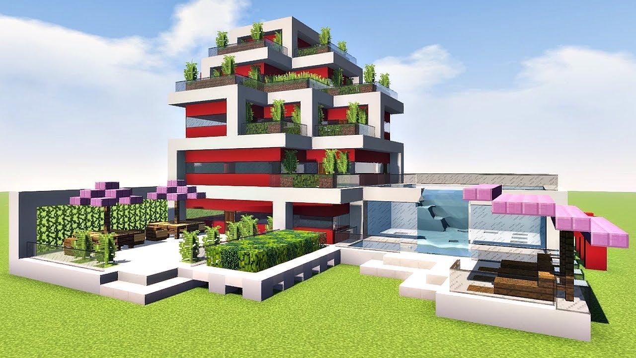 дом в стиле хай тек майнкрафт #4