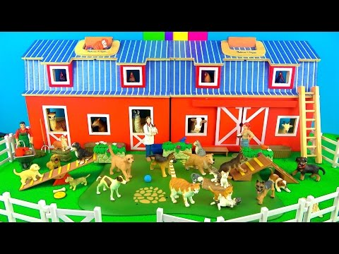 Farm Animal Toys for Kids | Pets - Puppy Dog Day Care | Kittens - Learn in English