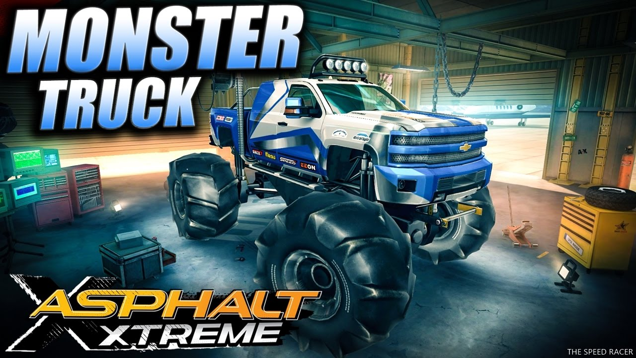 Some Monster Truck Madness in Asphalt Xtreme - YouTube