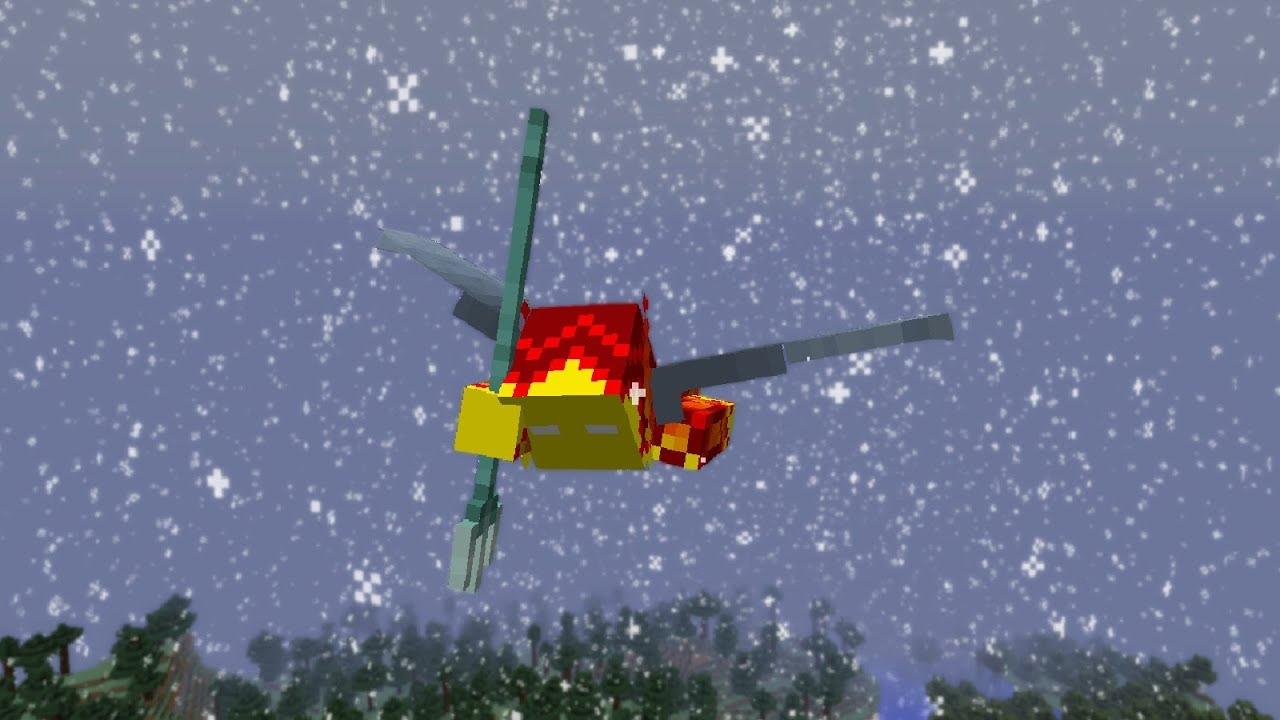 Combining Elytra + Trident + Riptide III + Slow Falling Effect + Rain in  Minecraft 8.83!