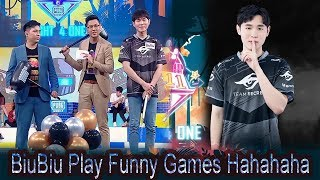 😂BiuBiu Play Funny Games  | 4 Country Battle Show