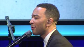 """John Legend Performs """"Redemption Song"""" & """"All of Me"""" at Public Counsel's 2016 Dinner"""