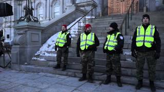 White Collar City Workers Protest Montreal City Hall March 23 2015 00058