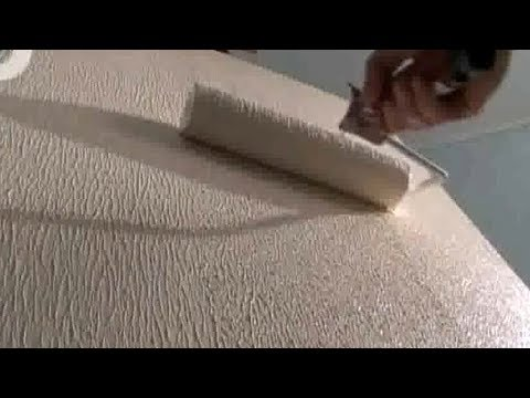 Техника нанесения декоративной штукатурки валиком