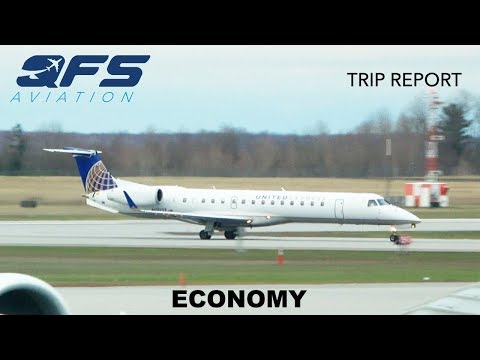 TRIP REPORT | United Express - ERJ 145 - Newark (EWR) to Ottawa (YOW) | Economy