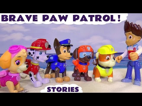 Paw Patrol Giant Brave Rescue Episodes | Surprise Eggs Cars Accident Peppa Pig & Thomas and Friends