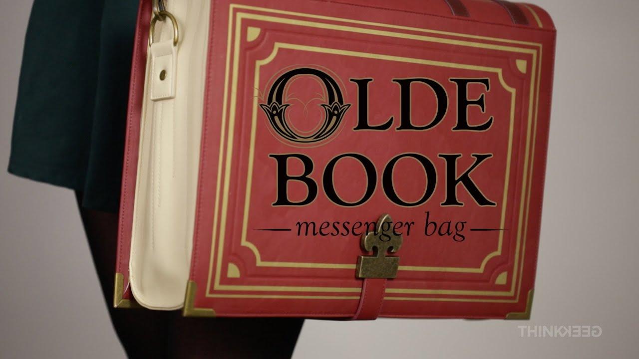 9327ed6ba09 Olde Book Backpack and Messenger Bag from ThinkGeek - YouTube