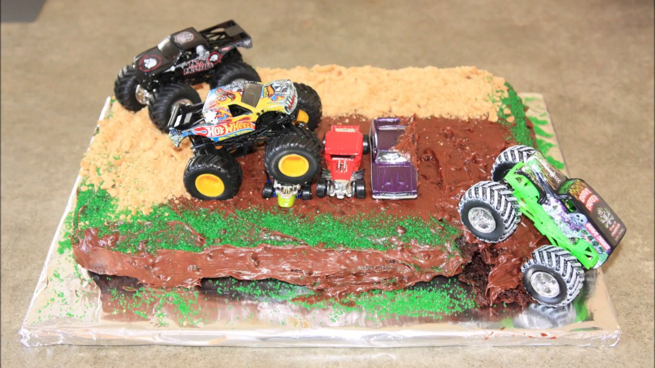 Monster Truck Birthday Cake - YouTube