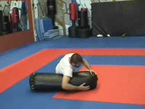 Antonio Pato Carvalho Shows Ground Pound Heavy Bag Drill