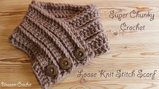 Super chunky crochet - Easiest & Fastest Knit Stitch Scarf/ Cowl