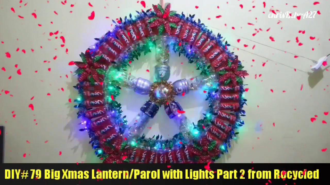 DIY 79 Big Xmas LanternParol with Lights