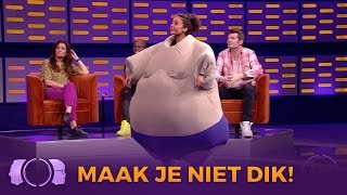 Fajah Lourens geen 'killer body' in De Gordon Tegen Dino Show
