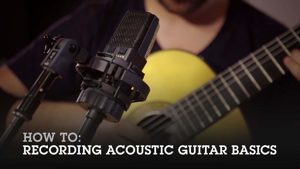 how to recording acoustic guitar basics with loop control