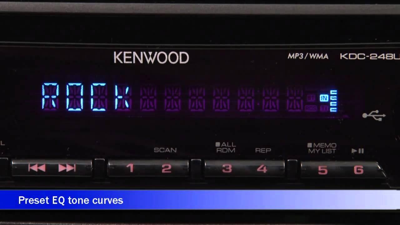 kenwood kdc 248u cd receiver display and controls demo crutchfield video youtube [ 1280 x 720 Pixel ]