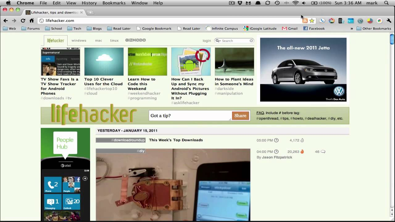 RSS feed in Google Chrome - YouTube