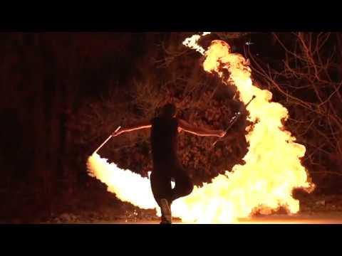 Fire Performer for Hire - Ken Hill - Circus Arts of Nunchaku, poi, staff, double staff, sword