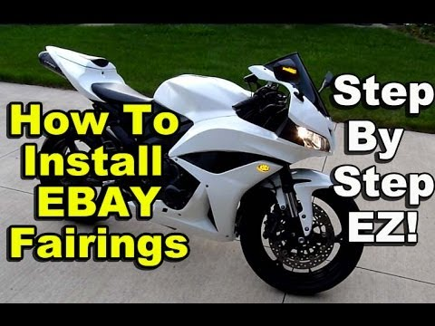 2004 Gsxr 600 Headlight Wiring Diagram Power Window Switch How To Install Ebay Fairings Honda Cbr600rr Chinese Aftermarket Part 2