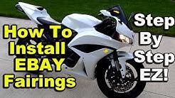 How To Install EBay Fairings - Honda CBR600rr - Chinese Aftermarket Fairings - Part 2