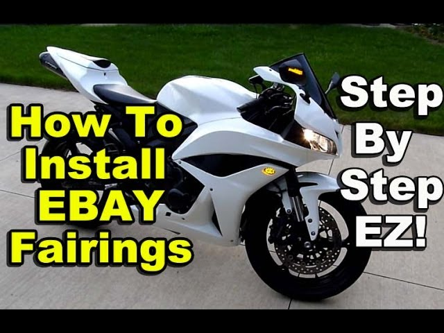 How To Install Ebay Fairings Honda Cbr600rr Chinese Aftermarket Fairings Part 2 Youtube