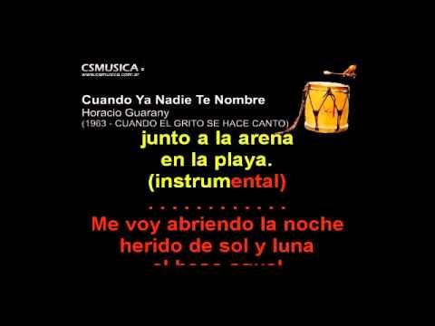 Folklore   Cuando Ya Nadie Te Nombre   Karaoke