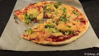 Простой рецепт пиццы с курицей и брокколи | Домашняя пицца с курицей и овощами
