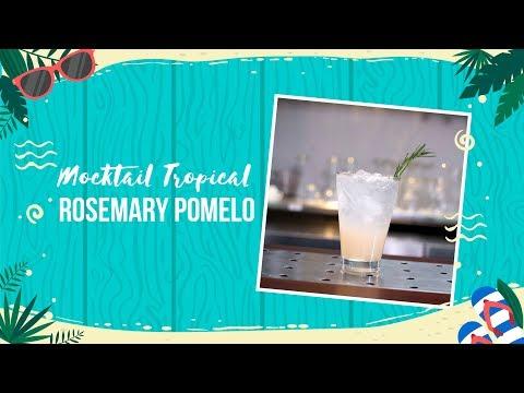 Cách làm Mocktail Tropical Rosemary Pomelo thanh ngọt vị bưởi | Hướng Nghiệp Á Âu