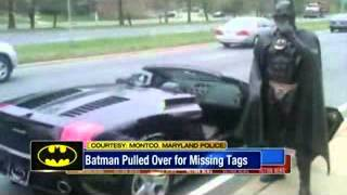 BATMAN Pulled Over In Lamborghini in Maryland