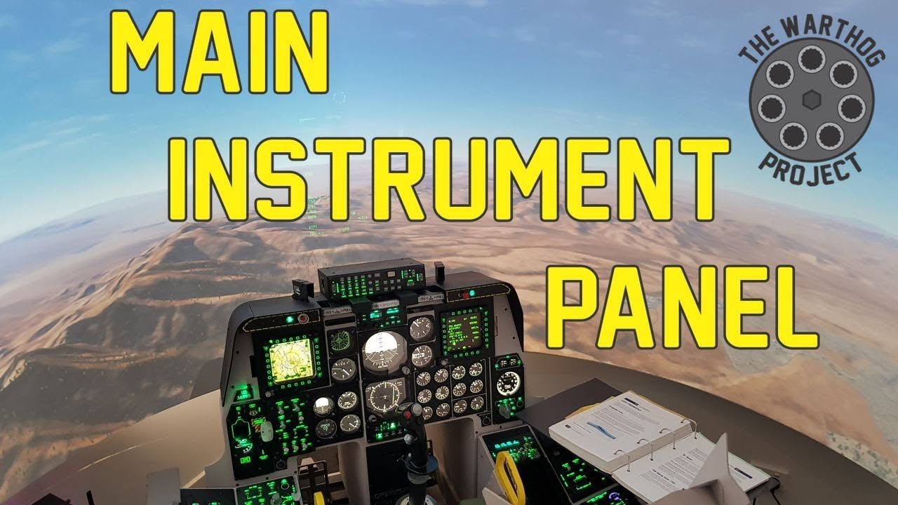 A-10C Flight Simulator - Main Instrument Panel