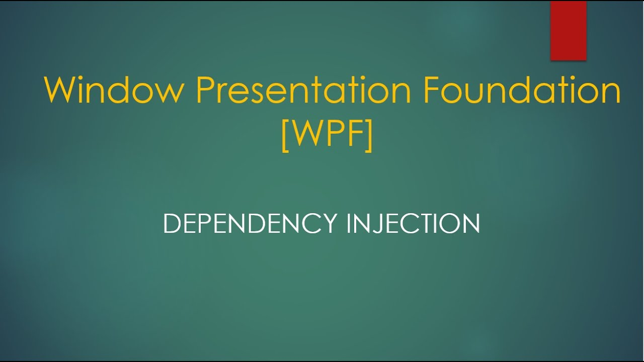 Dependency Injection in NET Core WPF Application