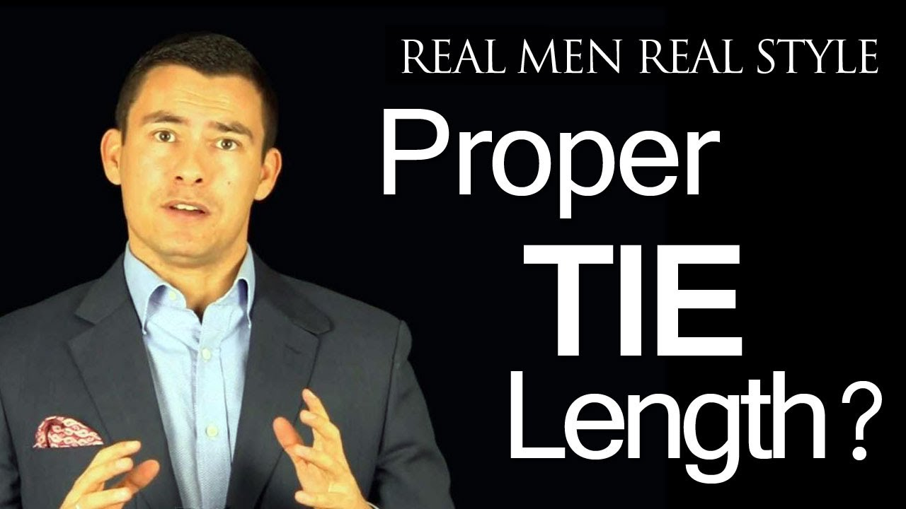 Proper tie length where should the necktie tip fall proper tie proper tie length where should the necktie tip fall proper tie length youtube ccuart Choice Image