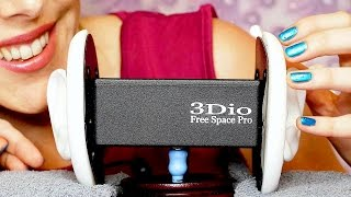 ASMR Whispering, Tapping & Scratching on the 3Dio, Up Close Ear to Ear Touching, Ear Massage
