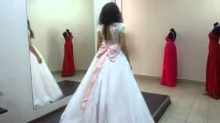 Примерка платья Аспасия от Gabbiano в свадебном салоне Айвори