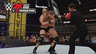 WWE 2K16 Showcase Mode - The Rock Vs Stone Cold Wrestlemania 17 - 1080p/PS4