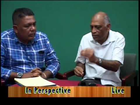 In Perspective with guest former Agriculture Minister, Dr Leslie Ramsammy