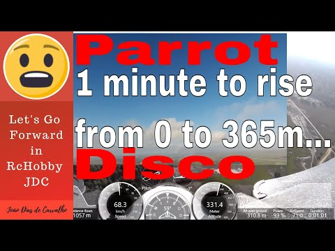 Drone Parrot Disco (Double Vision...) - Rise to 365 m altitude in a minute, Angola