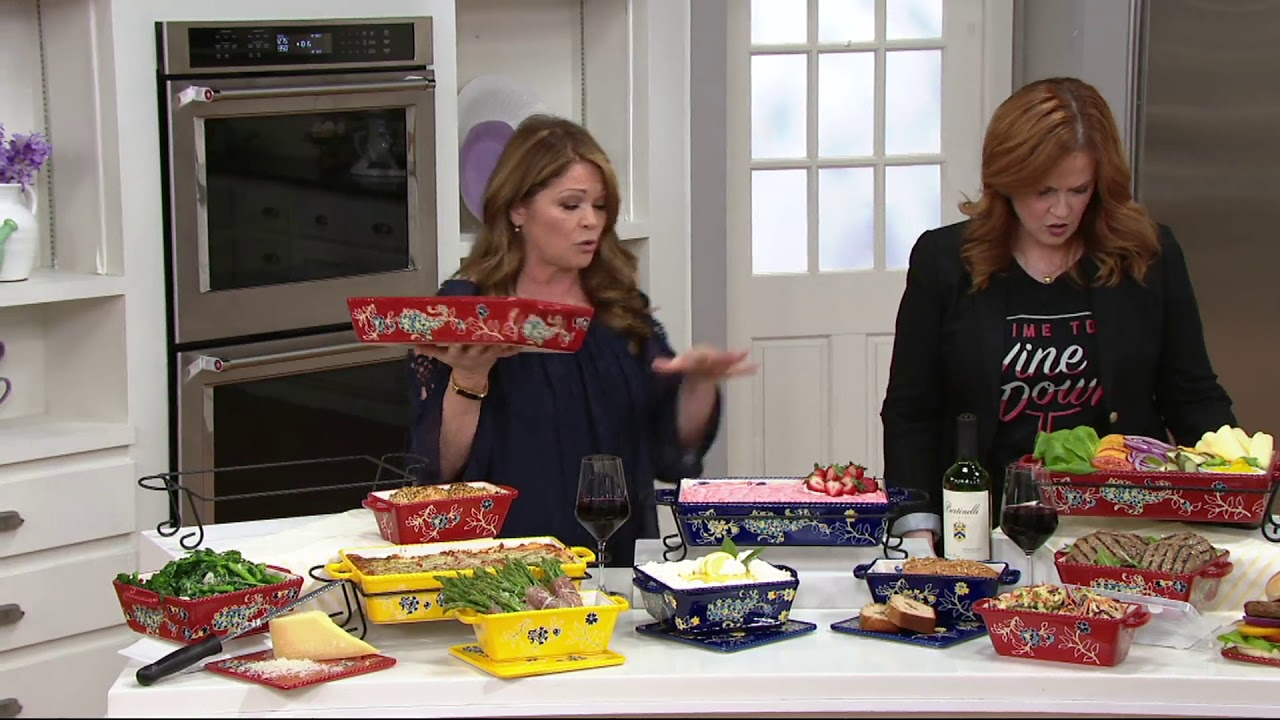 Valerie Bertinelli 6 Piece Bake Serve Set On Qvc Youtube