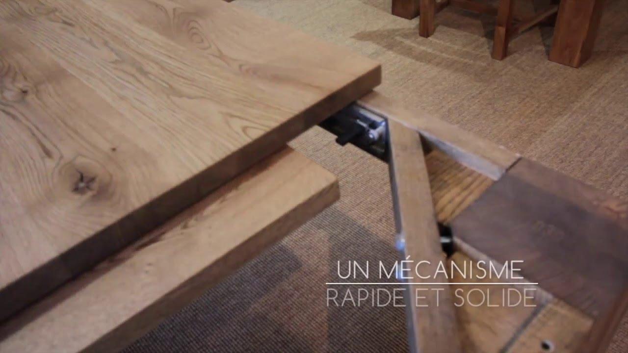 lecoinmontagne table en chene massif avec allonge integree jbf