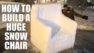 HOW TO BUILD A HUGE SNOW CHAIR thumbnail