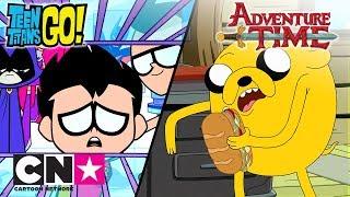 Młodzi Tytani: Akcja! + Pora na przygodę! | Złodzieje kanapek | Cartoon Network