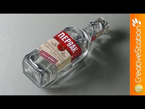 A bottle of Pervak – Hyperrealistic art | CreativeStation GM