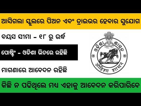 School Peon & Driver Job | 5th, 8th, 9th, 10th Fail | 10th Pass Odisha Job | Odisha Job Updates 2020