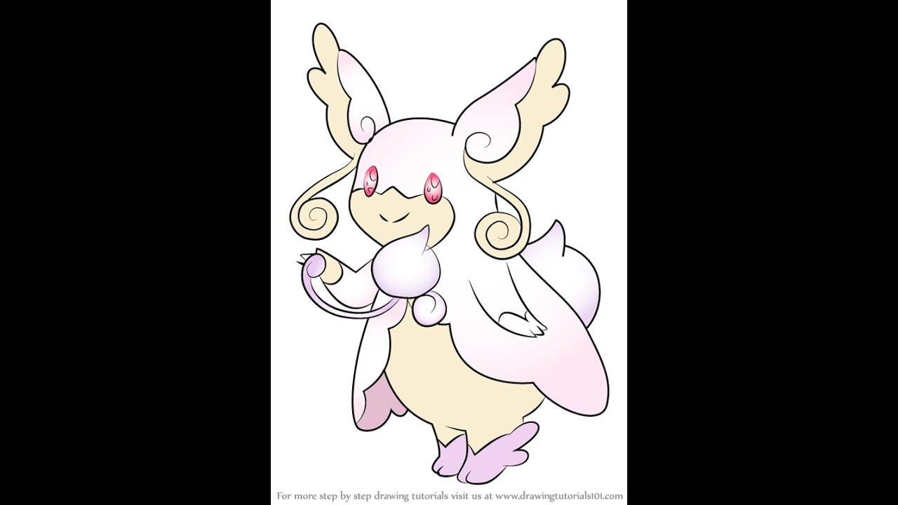 Tập vẽ pokemon Audino tiến hóa mega ( How to Draw Mega Audino from Pokemon )