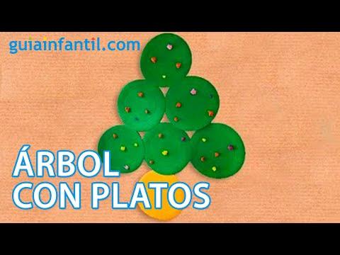 Arbol De Navidad Con Platos Manualidad Para Ninos Youtube - Trabajos-manuales-de-navidad-para-nios