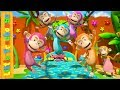 Five Little Monkeys | Kindergarten Nursery Rhymes for Children | Cartoons by Little Treehouse