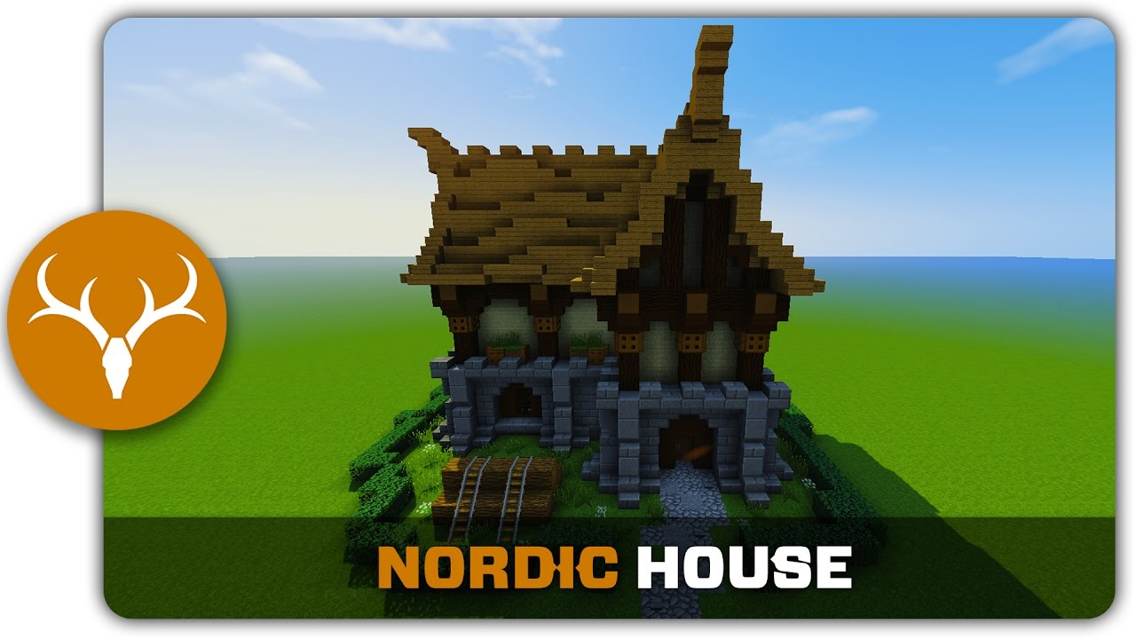 Minecraft Building Tutorial How To Build Nordic Town Decorations Youtube