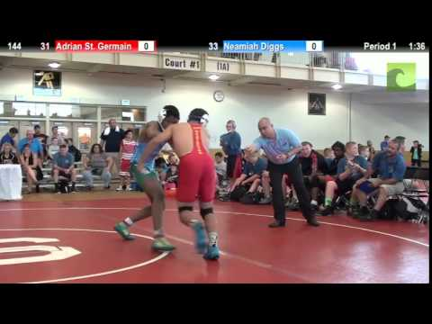 144 f, Adrian St  Germain, Washington vs Neamiah Diggs, Pennsylvania