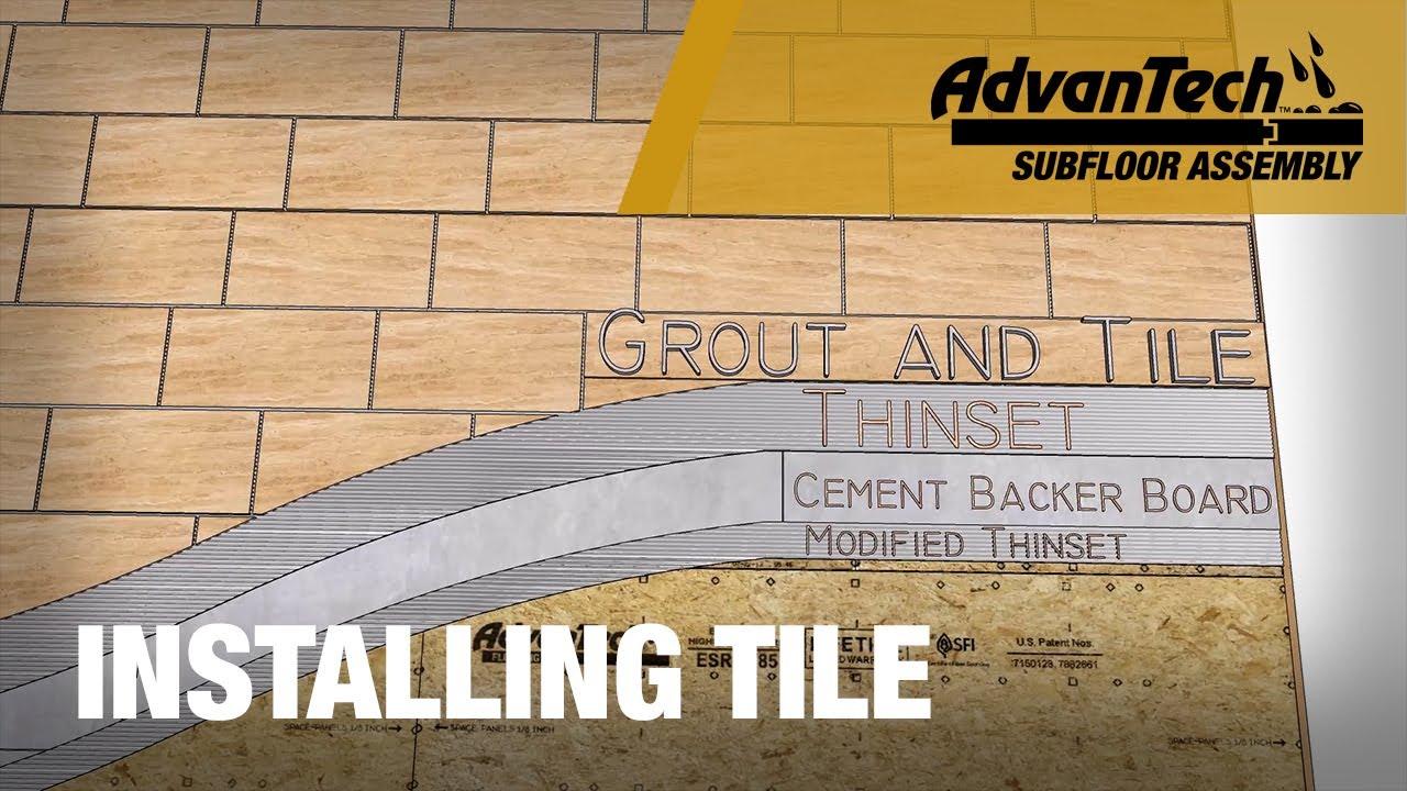 Subfloor For Tile >> Installing Tile over AdvanTech® subflooring | Tech Tip