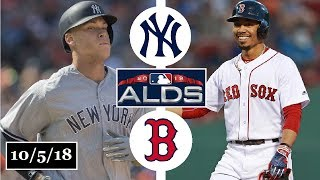 New York Yankees vs Boston Red Sox Highlights || ALDS Game 1 || October 5, 2018